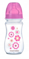 CANPOL BABIES wide neck anticolic bottle EasyStart - Newborn baby 240ml 35/217 pink flowers 35/217_pin