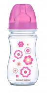 CANPOL BABIES buteliukas plataus kaklelio Easy Start Newborn Anti-colic 240ml 35/217 pink flowers 35/217_pin
