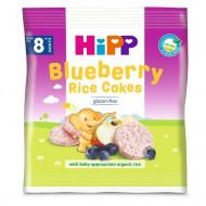 HiPP ryžių - mėlynių paplotėliai 8m+ 30g 3569 3569