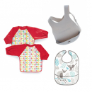 Bibs and wipes