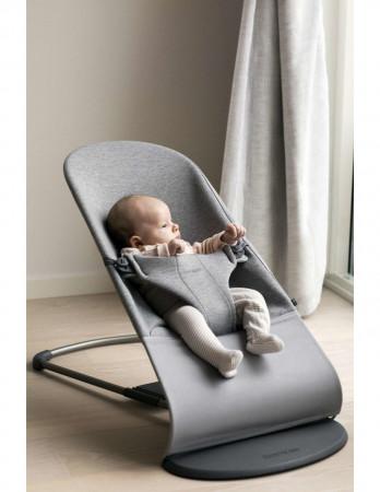 BABYBJÖRN gultukas BLISS 3D Jersey, light grey + žaislas 606072