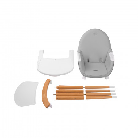 KINDERKRAFT maitinimo kėdutė FINI, pilka KKKFINIGRY0000