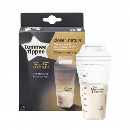 TOMMEE TIPPEE maišeliai pienui laikyti, 36 vnt., 42302241 42302241