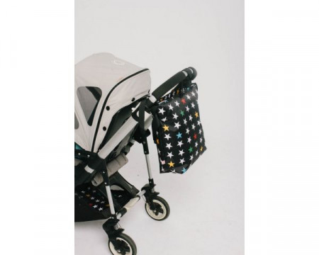 MY BAG'S Kūdikio reikmenų krepšys vežimėliui Black Stars nbssstabl