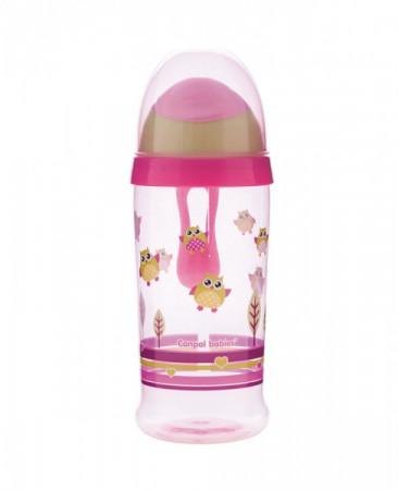 CANPOL BABIES puodelis neišsipilantis Owl/Penguin 350 ml 56/513 56/513