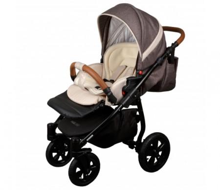 MILLI Tech vežimėlis 3in1 Sand/dark brown 713929 713929