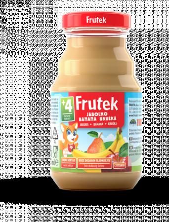FRUTEK obuolių, bananų ir kriaušių vaisių nektaras 4m+ 125ml 3838945502658