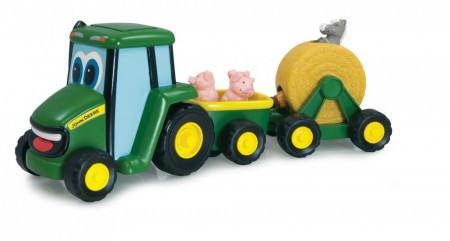JOHN DEERE traktorius su gyvūnais Country Fair Wagon Ride, 35089