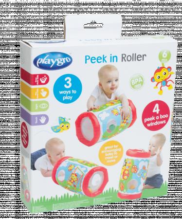 PLAYGRO pripučiamas ritinys Peek in Roller, 0184971 0184971