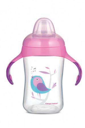 CANPOL BABIES mokomasis puodelis su silikoniniu snapeliu Birds, 300ml, 56/519 56/519