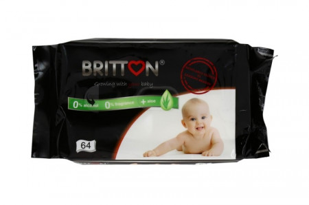 BRITTON drėgnos servetėlės 64 vnt. B2204 B2204
