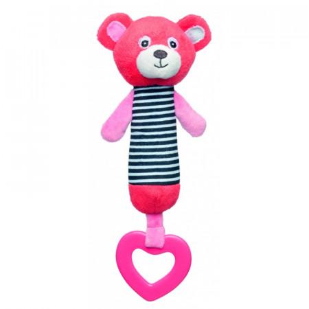 CANPOL BABIES minkštas žaislas su kramtuku Bears Coral 68/055_cor 68/055_cor