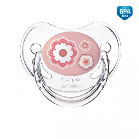 CANPOL BABIES silikoninis ortodontinis čiulptukas 1vnt Newborn 6-18m 22/566_pin 22/566_pin