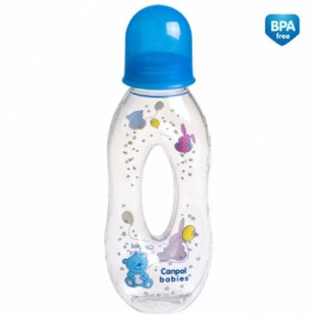 CANPOL BABIES buteliukas su skylute 6m+ 250ml 56/200 56/200