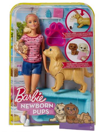 BARBIE Barbė su naujagimiais šunyčiais, FBN17 FBN17