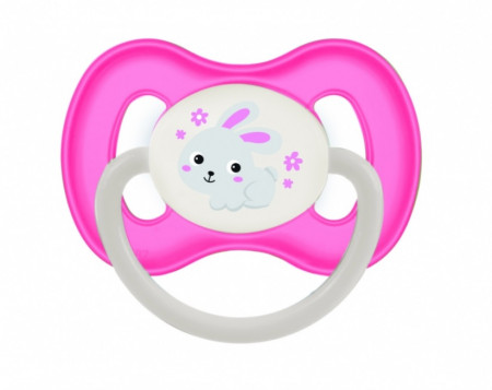 CANPOL BABIES čiulptukas lateksinis simetrinis Bunny&Company 0-6 mėn, 23/277 pink 23/277_pin