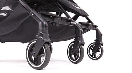 BABY MONSTERS vežimėlis dvynukams Kuki Twin Black BMKT-10001