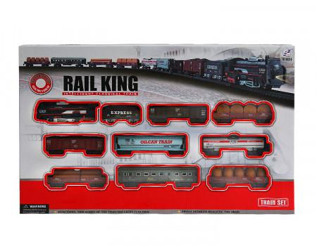 Žaislinis traukinys su bėgiais, 1404B207/19033-8 1404B207/19033-8