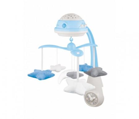 CANPOL BABIES 3in1 muzikinė karuselė su projektoriumi ir pliušinias žaislais, mėlyna 75/100_blu 75/100_blu