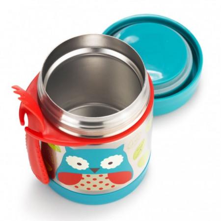 SKIP HOP maisto indelis ZOO, owl, 36 mėn+, 325 ml, 252375