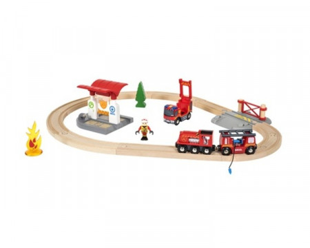 BRIO RAILWAY gaisrininkų rinkinys, 33815000 33815000