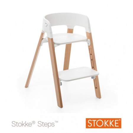 STOKKE maitinimo kėdutės kojos Steps Wood Natural 349401 349401