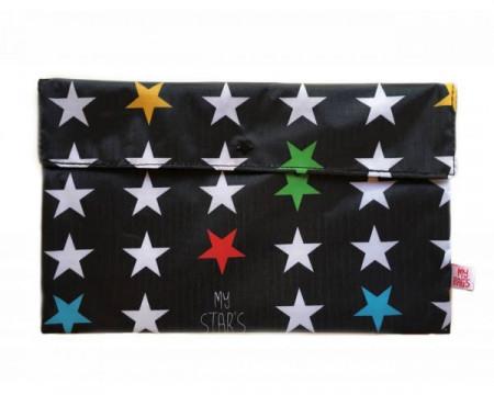 MY BAG'S Naujagimo reikmenų krepšys Black Stars prstabl