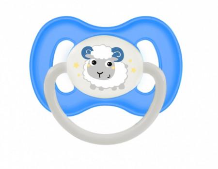 CANPOL BABIES čiulptukas lateksinis simetrinis Bunny&Company 6-18 mėn. 23/278_blu 23/278_blu