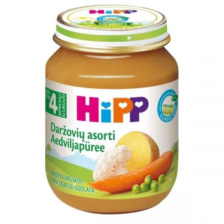 HiPP daržovių tyrelė 4m+ 125g 4013 4013