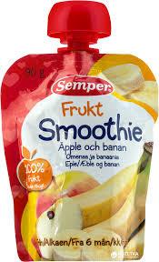 SEMPER SMOOTHIE įvairių vaisių tyrė 6m+ 90g 119271 119271
