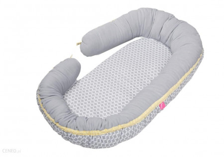MOTHERHOOD 2in1: jaukus kūdikio miegas + mamos pagalvė Grey Classic 054/138 054/138