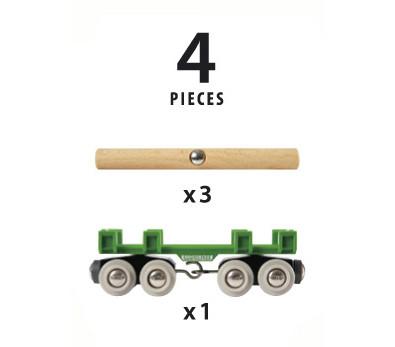BRIO vagonas medienai vežti 33696 33696