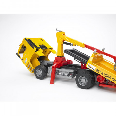 BRUDER sunkvežimis geltonas su raudonu džipu, 02750 02750