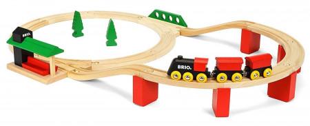 BRIO klasikinio traukinio su bėgiais rinkinys, 33424 33424