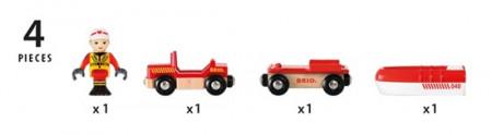 BRIO RAILWAY gelbėjimosi valtis, 33859000 33859000