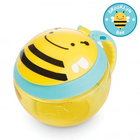 SKIP HOP užkandžių puodelis 12m+ 221ml Zoo Bee 252554