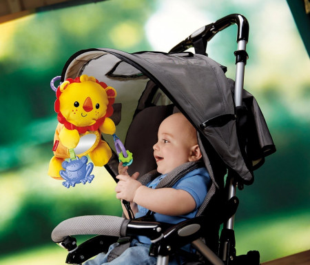 FISHER PRICE pliušinis liūtukas (ant vežimėlio), BBT68